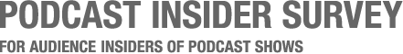 Podcast Insider Survey